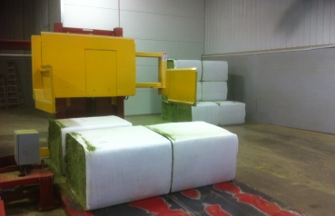 The processing of lucerne into bales