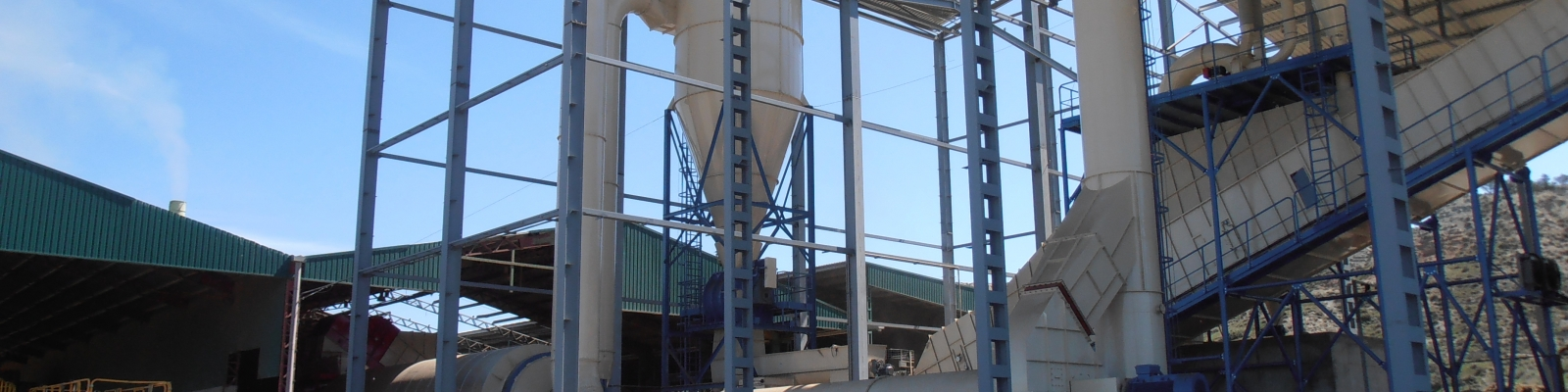 The processing of lucerne into feed pellets